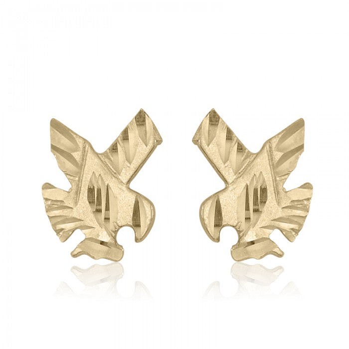10K Yellow Gold Eagle Baby Stud Earrings