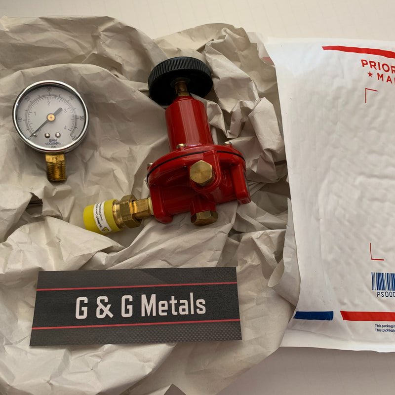 Propane Regulator High Pressure LP LPG Gas 0-60PSI Adjustable Stainless 10ft