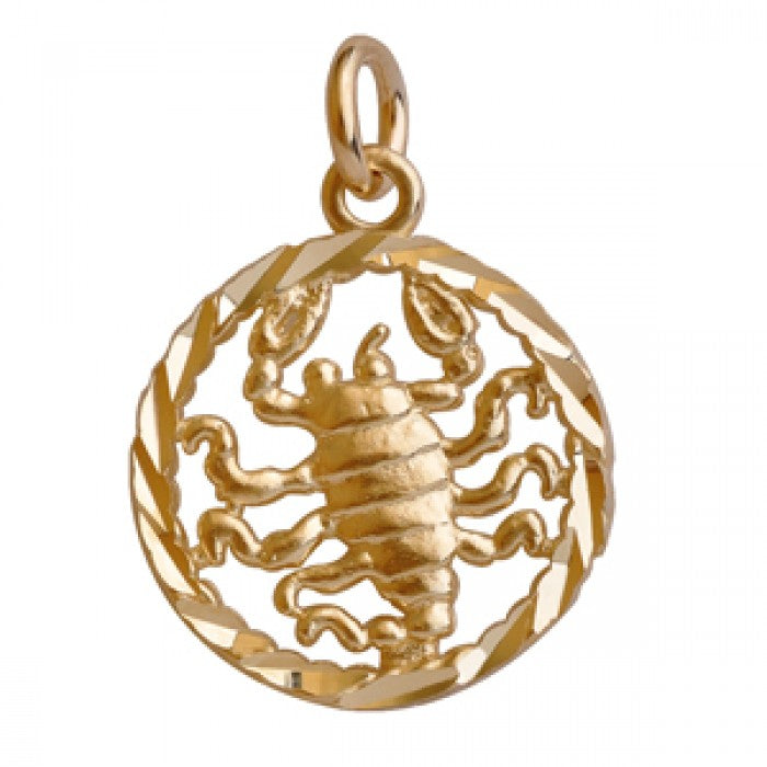 10K Yellow Gold Scorpio Pendant Necklace (16'' Chain)