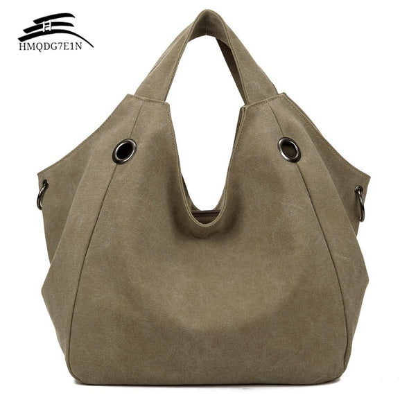 Promotion 100%cotton Women Solid Shoulder Bag Fashion Casual Canvas Hobos Handbags High Quality Large Capacity Tote Bags
