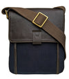 Hidesign Aiden Small Canvas Leather Cross Body