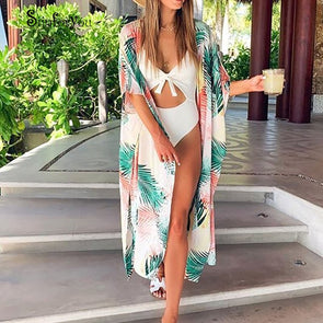 New Beach Cover Up Robe De Plage Women Swim Wear Cover-Up Cotton Tunic for Beach Sexy Sarong Kaftan Bikini Cover Up Maxi Dress