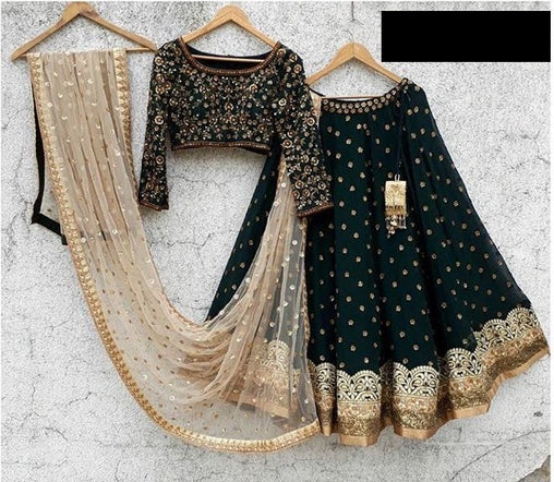 Smart Black  Lehenga Choli  R T