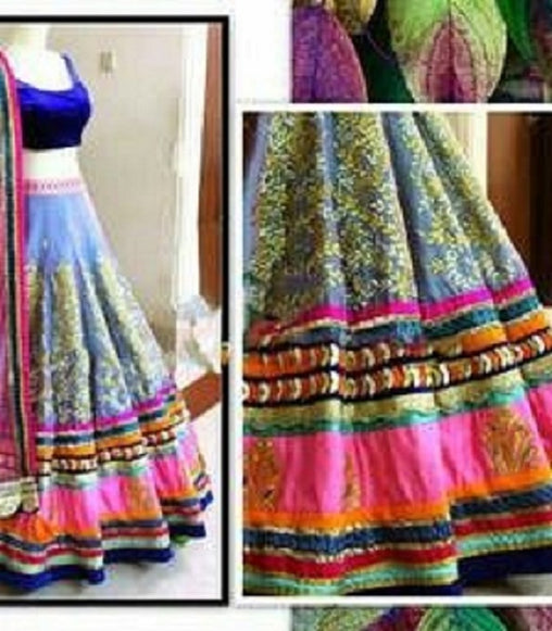 Embroidered Morali Blue Designer Lehnga Choli Lehenga
