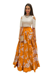 Designer Lehnga Choli Aarohi Orange Lehenga