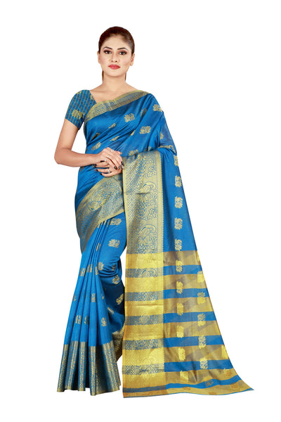 Cotton Silk Designer Print Saree D-01