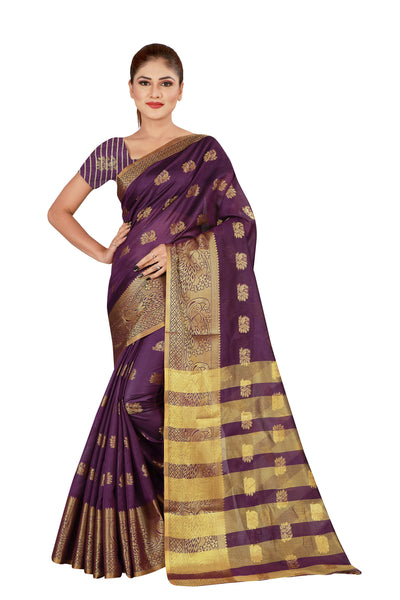 Cotton Silk Designer Print Saree D-02