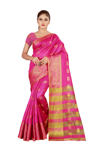 Cotton Silk Designer Print Saree D-03