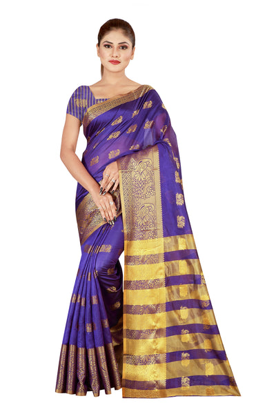 Cotton Silk Designer Print Saree D-04