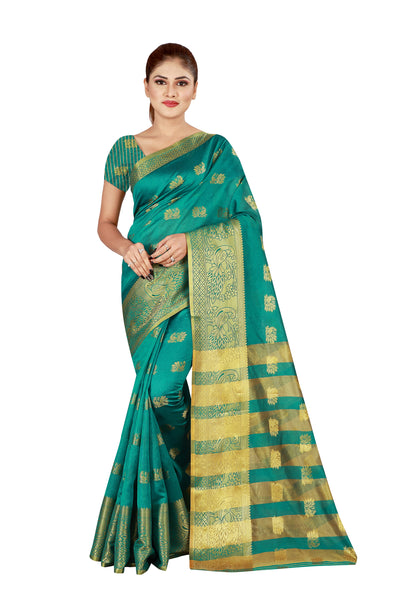 Cotton Silk Designer Print Saree D-05