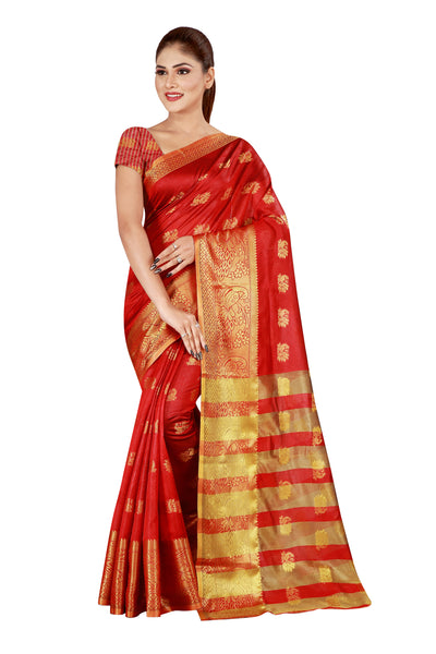 Cotton Silk Designer Print Saree D-06