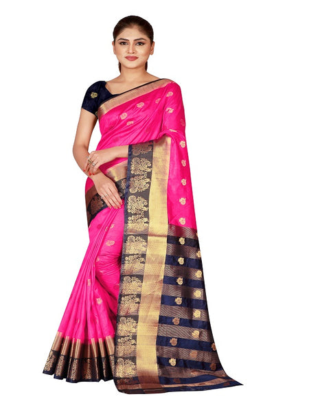 Cotton Silk Designer Print Saree D-08