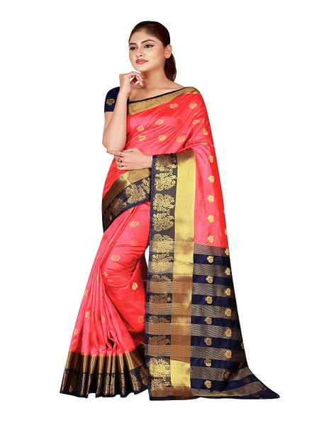 Cotton Silk Designer Print Saree D-09