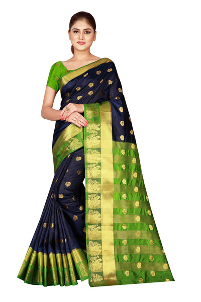 Cotton Silk Designer Print Saree D-11