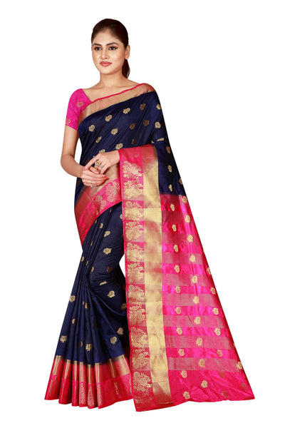 Cotton Silk Designer Print Saree D-12