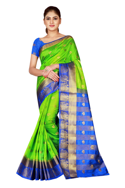 Cotton Silk Designer Print Saree D-14