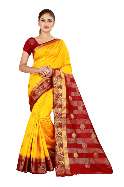 Cotton Silk Designer Print Saree D-15