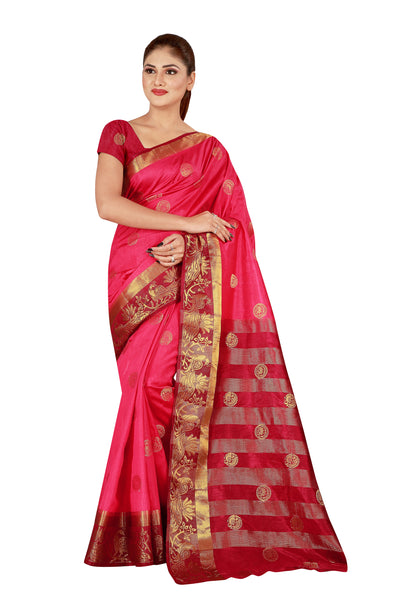 Cotton Silk Designer Print Saree D-16