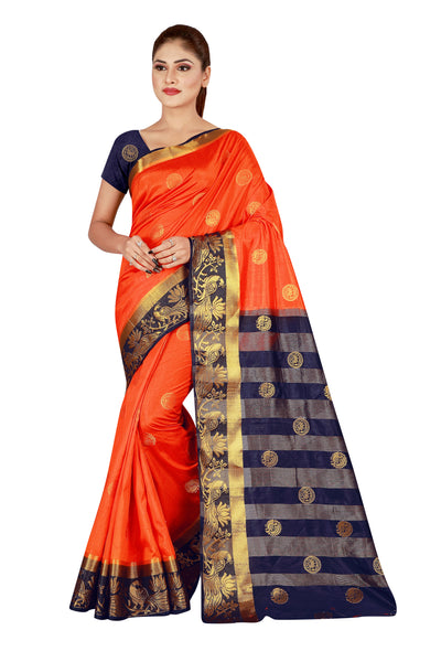 Cotton Silk Designer Print Saree D-17