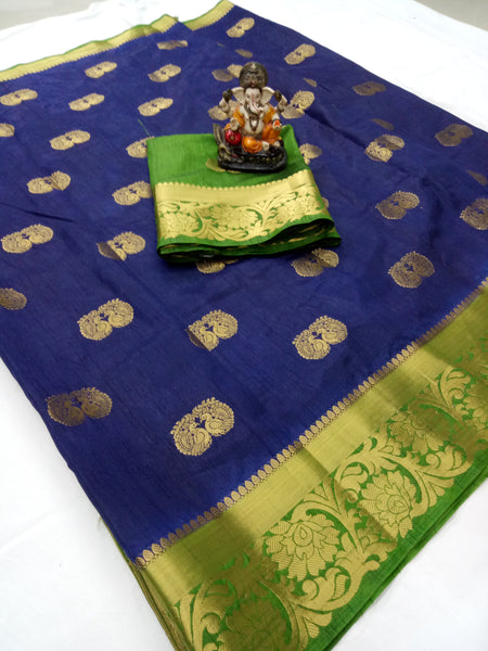 Cotton Silk Designer Print Saree D-20
