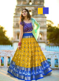 Attractive Sky blue Embroiderey Designer Lehnga Choli