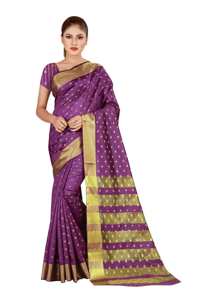 Cotton Silk Designer Print Saree M-22