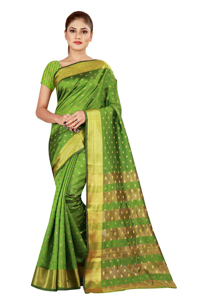 Cotton Silk Designer Print Saree M-23