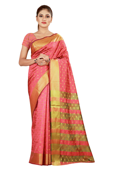 Cotton Silk Designer Print Saree M-24