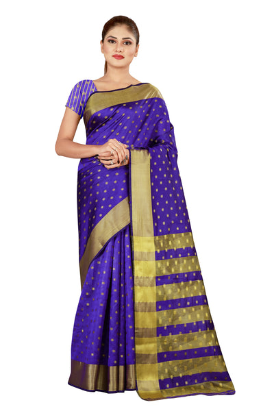 Cotton Silk Designer Print Saree M-25