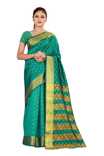 Cotton Silk Designer Print Saree M-26