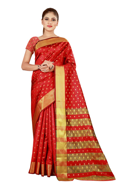 Cotton Silk Designer Print Saree M-27
