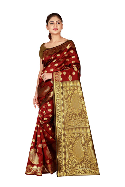 Cotton Silk Designer Print Saree M I - 28