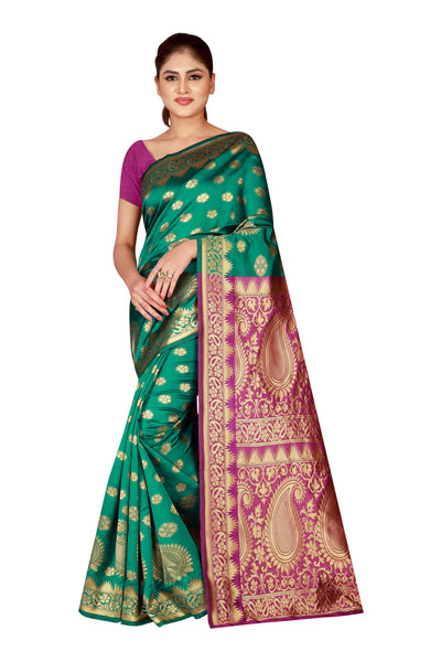 Cotton Silk Designer Print Saree M I - 33