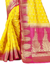 Pan Buti Lemon heavy Designer Soft SIlk Banarasi Saree 3008