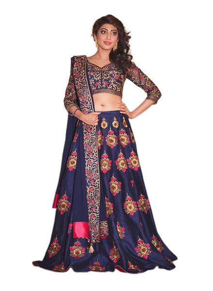 New Heavy Navy Blue Designer Lehnga Choli Lehenga