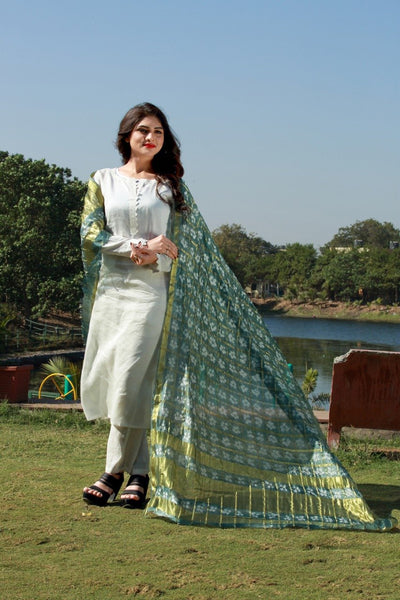 Light Green  Bandhni  Dupatta