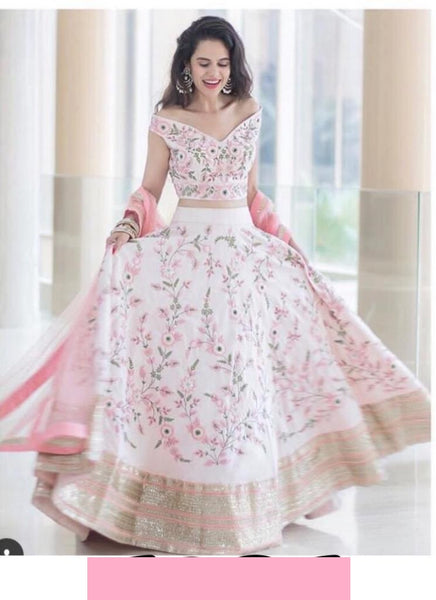 Lovely Pink Flower  Lehnga Choli R T
