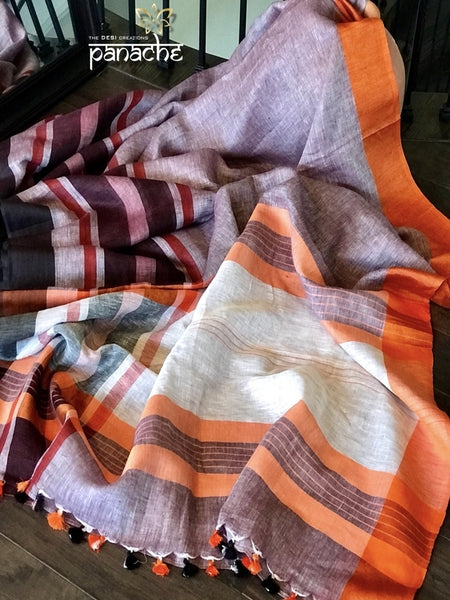 Awesome Collection Linen Printed Saree JD1369