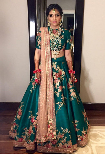 Green colour Designer Lehnga Choli s r 10