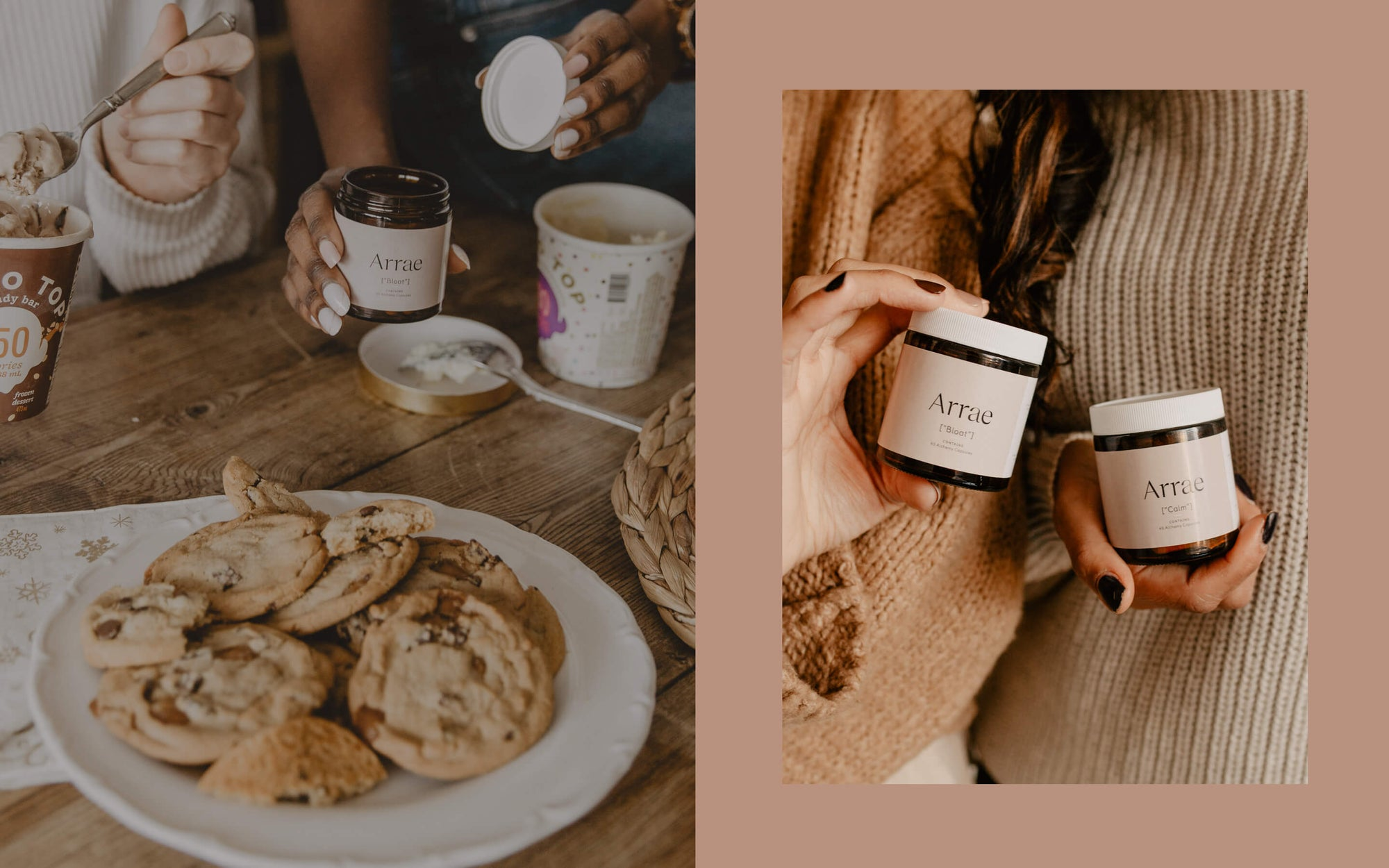 If you want to dig into treats like ice cream and cookies without feeling guilt or uncomfortable, try arrae alchemy capsules to deal with bloating and calm for mood and digestion support