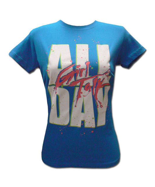 Girl's Turquoise All Day T-shirt