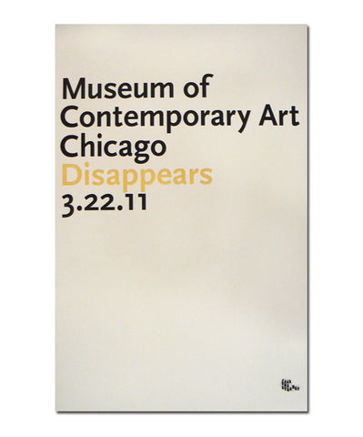 Disappears MCA [Chicago 3/22/11] Poster