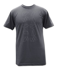 Geometric on Dark Grey T-shirt