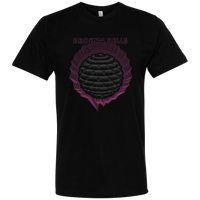 Grey Orb on Black T-shirt