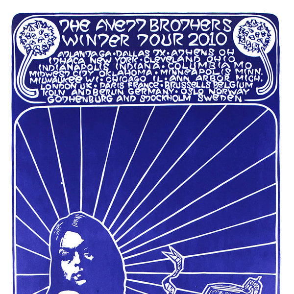 The Avett Brothers 2010 Winter Tour Print