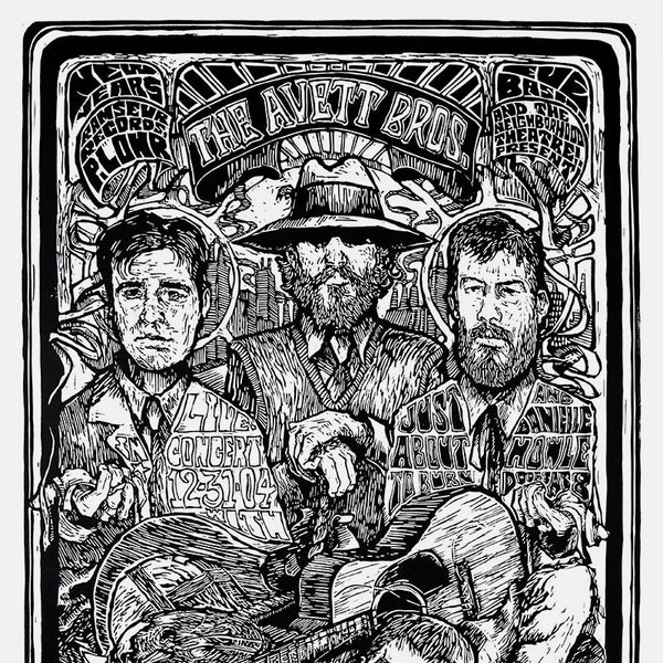 The Avett Brothers New Years Eve 2004 Print
