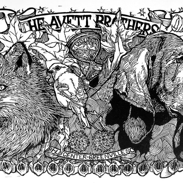 The Avett Brothers New Years Eve 2011 Print