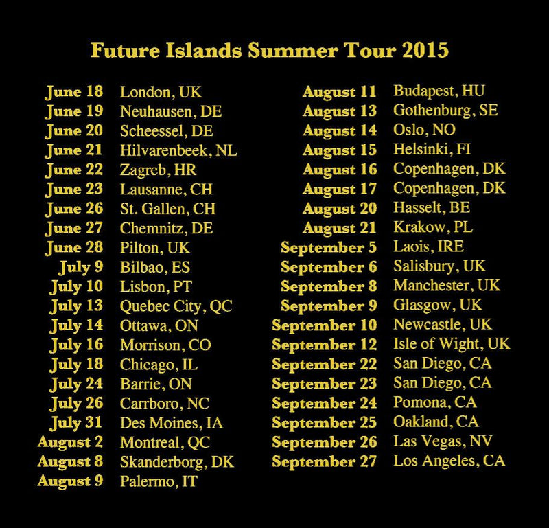 Summer 2015 Tour T-shirt