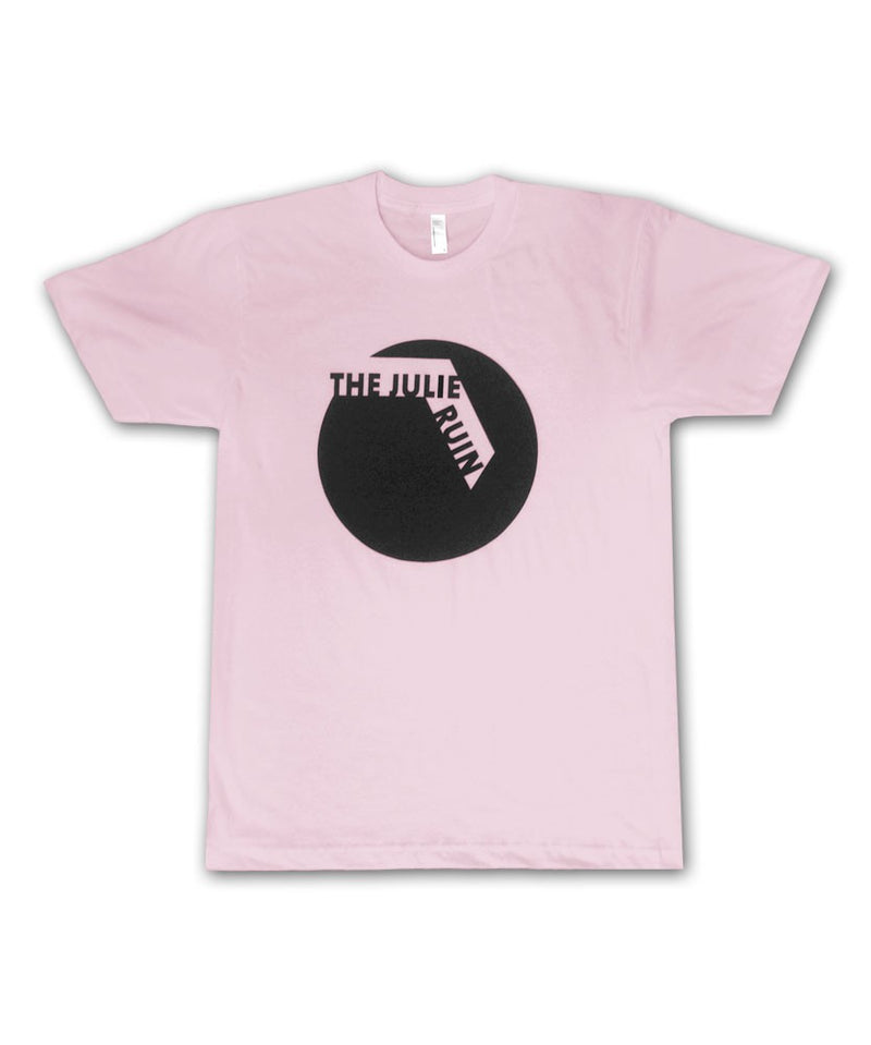 Black Circle on Light Pink T-shirt