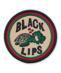Black Lips Frog Kissing Turtle Patch